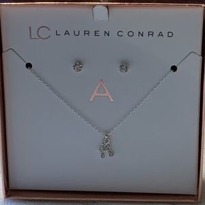 Lauren Conrad necklace and earring set